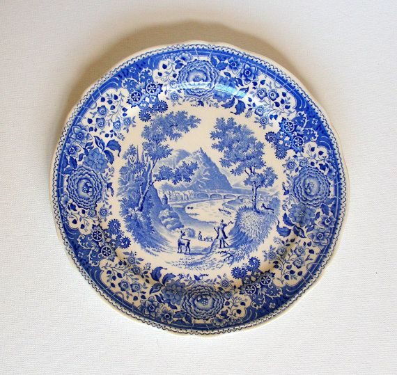 Villeroy Boch Burgenland Blue Antique Dinner Plates Made In
