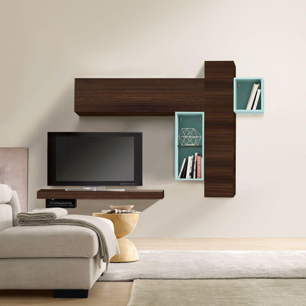 Side edge shuffle storage tv wall unit dotandbo com