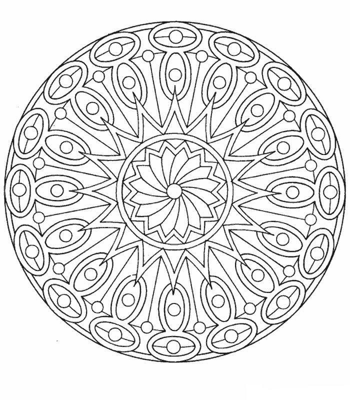 Mandala 434 mandalas Pinterest Mandala para colorear, Mandalas