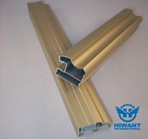 Golden Color Powder Coating Aluminium Profile For Building Decorating Materials Windows And Doors Powder Coating Aluminum Steel Windows Aluminium