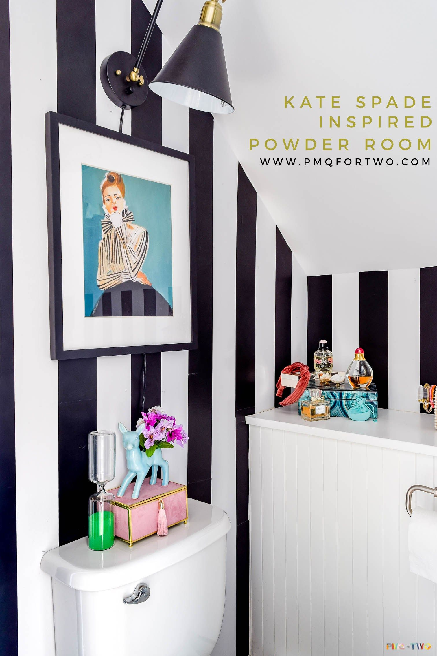 Kate Spade Inspired Powder Room The Reveal Retro