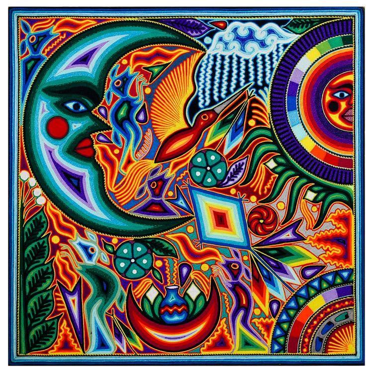 Huichol Yarn Painting Yarn Painting Mexican Folk Art