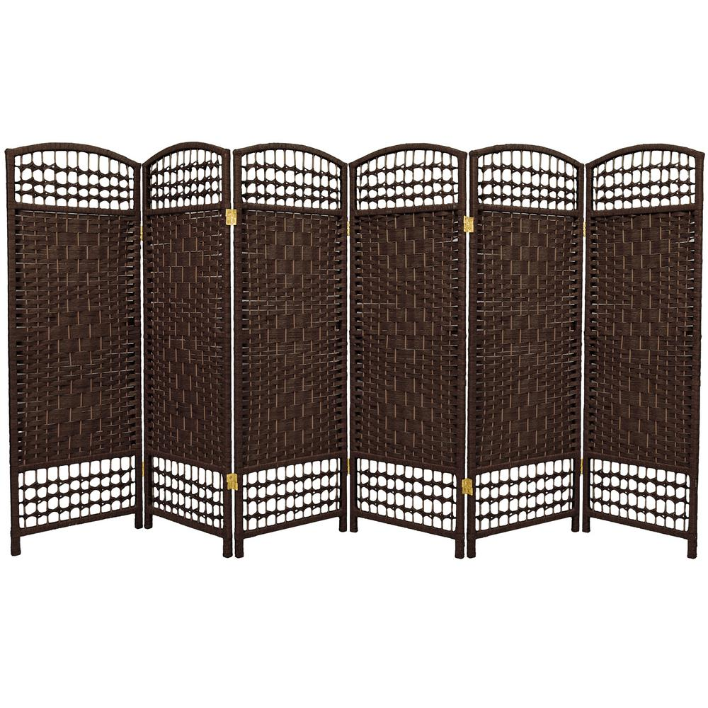 Peachy 4 Ft Dark Mocha 6 Panel Room Divider Products Oriental Download Free Architecture Designs Embacsunscenecom