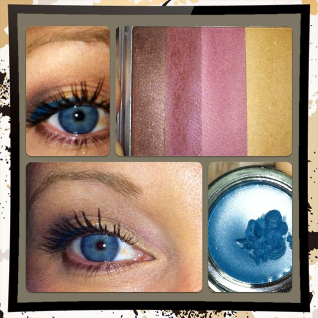 Mary Kay's Intrigue Eye Color Quad and Mary Kay Tempting Teal Gel Eyeliner! Love it for Fall!