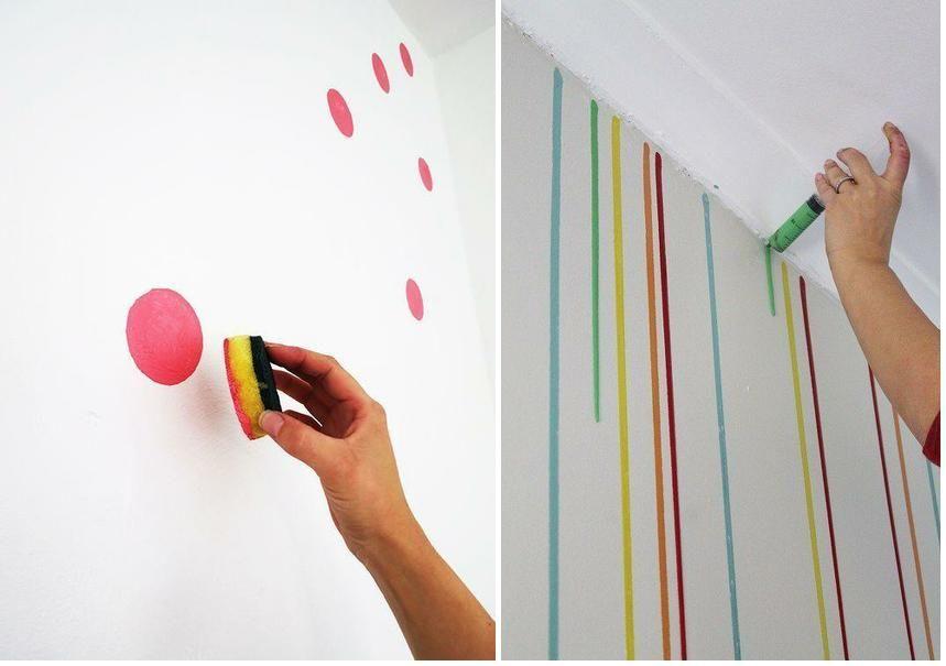 Ideas diy para pintar las paredes de tu casa de una forma - Paredes pintadas originales ...
