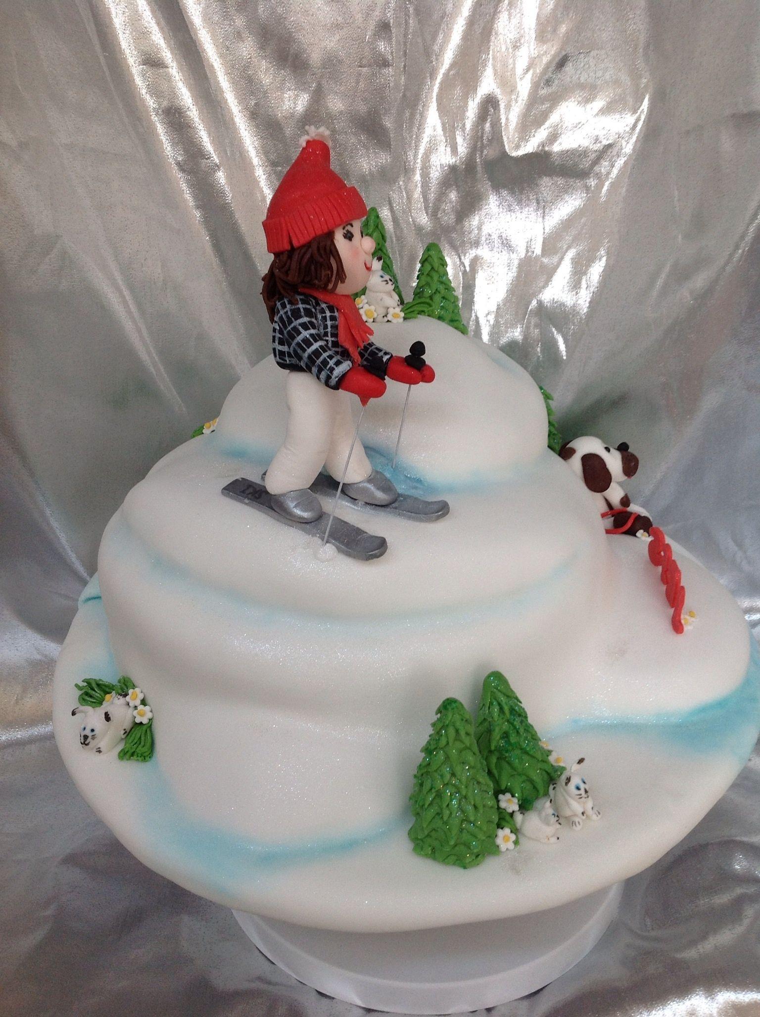 Snow Ski Slope Snow Cakes Pinterest Winter Wonderland Cake