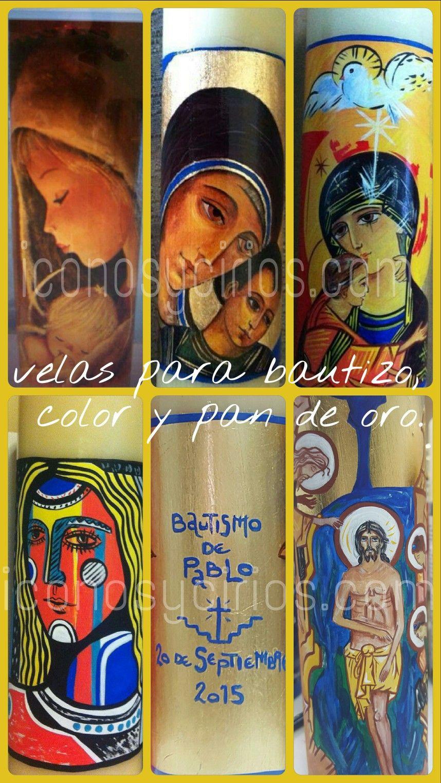 c3fd7671739 Modelos de vela de bautismo color y pan de oro