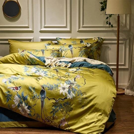 Svetanya Silkly Egyptian Cotton Bedding Linens Printed Sheet Pillowcase Duvet Cover King Queen Europe Double Size In 2021 Queen Bedding Sets Duvet Cover Sets Egyptian Cotton Bedding
