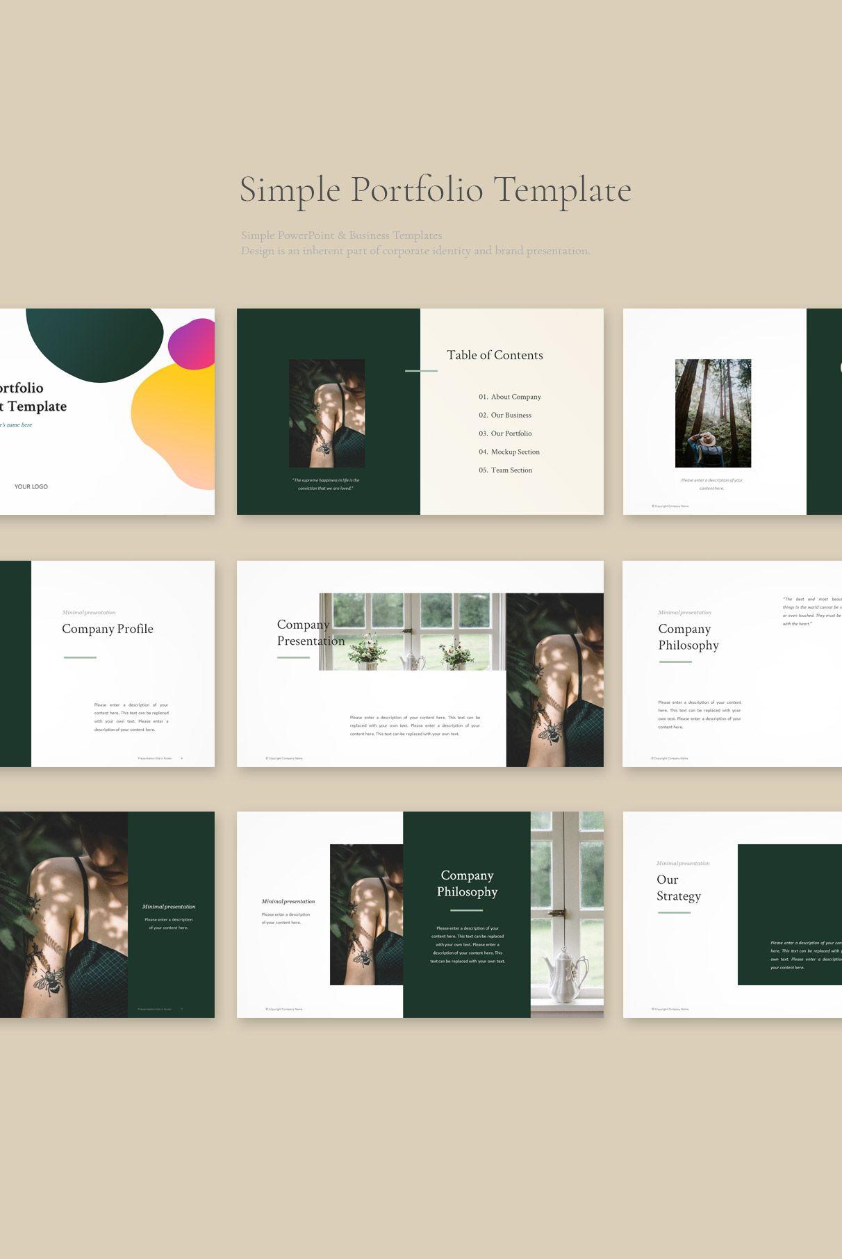 Portfolio PowerPoint Template