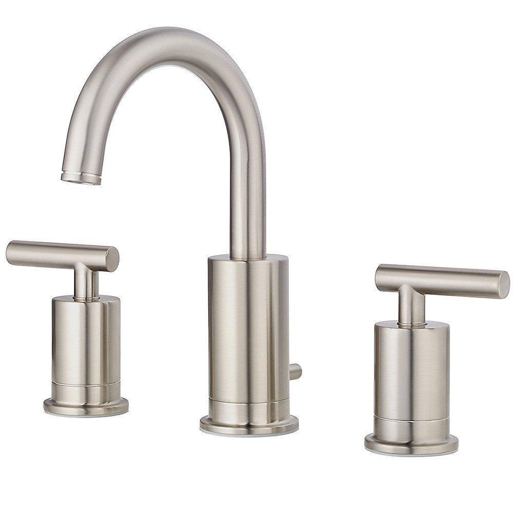 2-Handle 8 Inch Widespread Bathroom Faucet in Brushed Nickel, Water ...