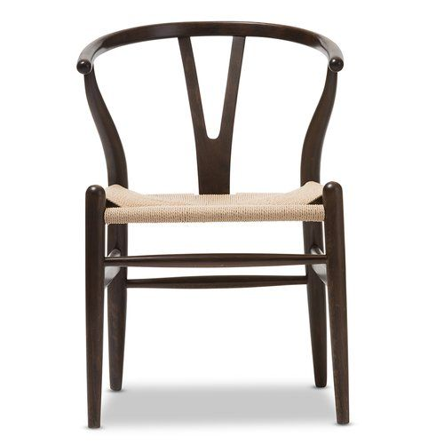 baxton studio wishbone chair in dark brown barrel chair wishbone