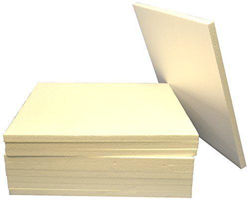 23 1 2 X 23 1 2 Eps Styrofoam Sheets 10 Sheets Styro 6 Styrofoam Sheets Styrofoam Foam Boards