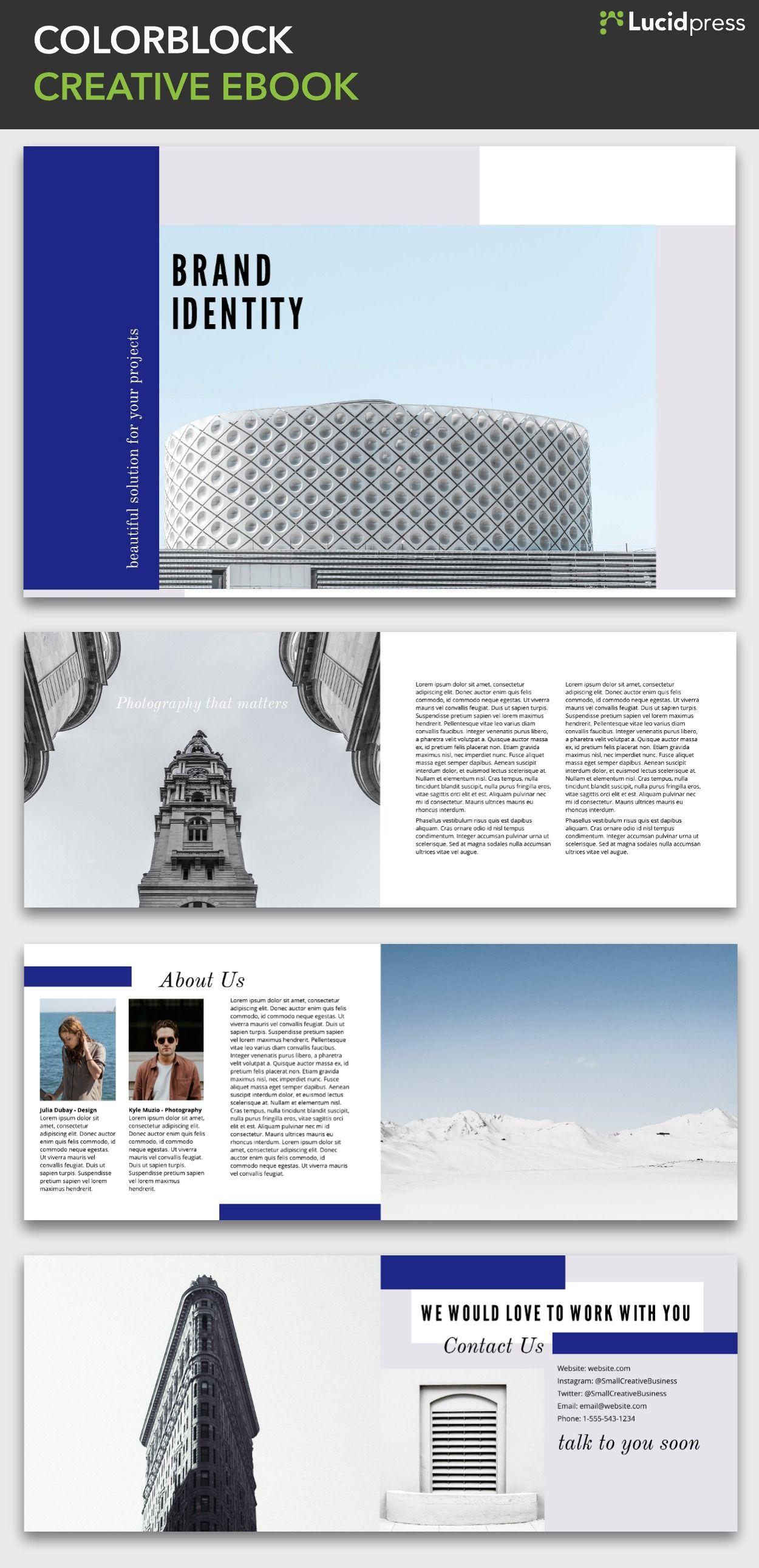 colorblock creative ebook template free ebook booklet templates