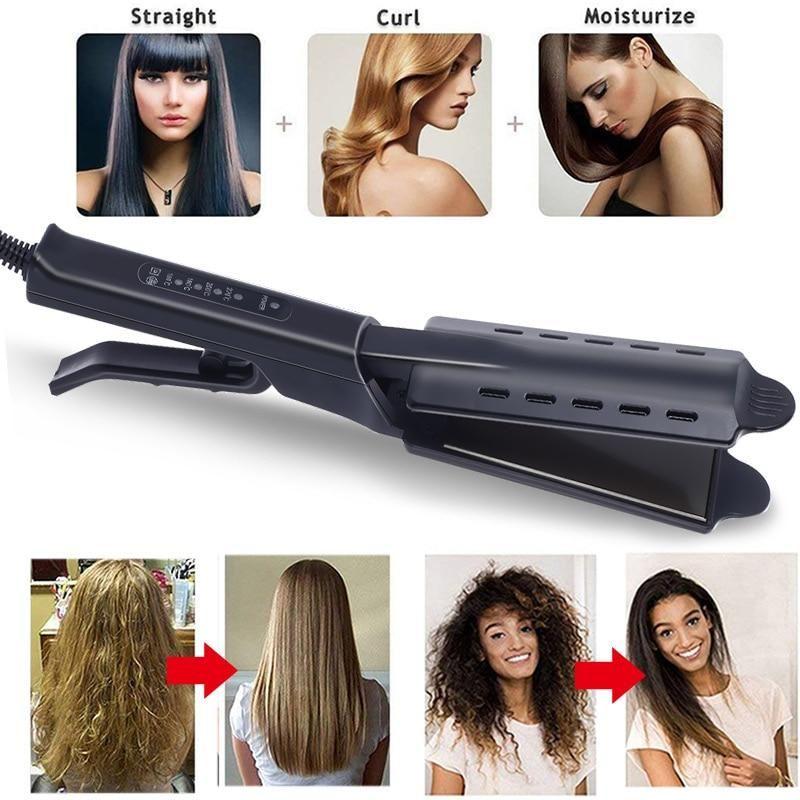 Steam Hair Straightener Four Gear Fast Warm Up In 2020 Hair Straightening Iron Flat Iron Hair Styles Hair Steaming