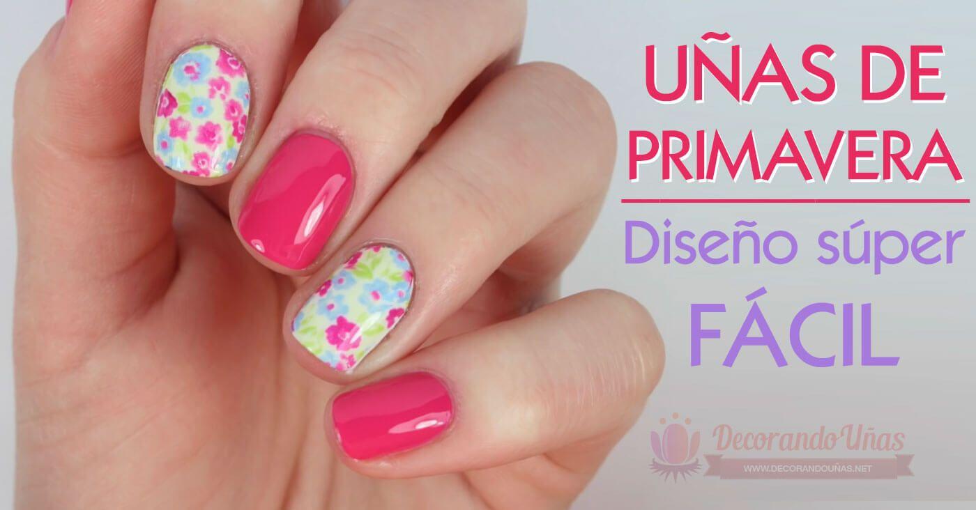 Decoración de uñas con flores - diseño super fácil - https://xn ...