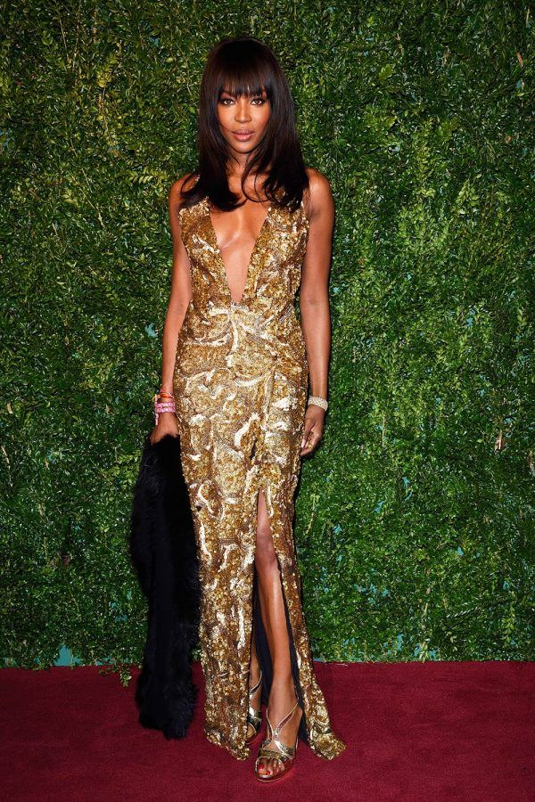 Gold dress on brown skin
