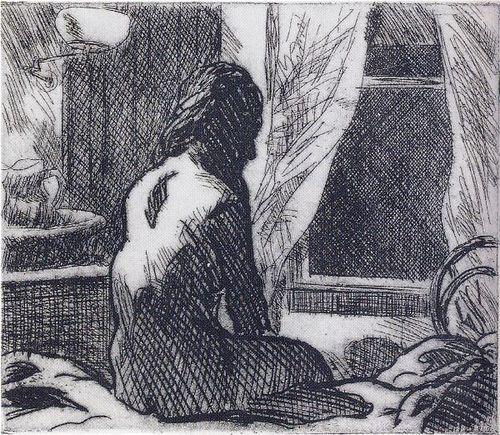 """""""The Open Window"""", 1918-19, Edward Hopper."""