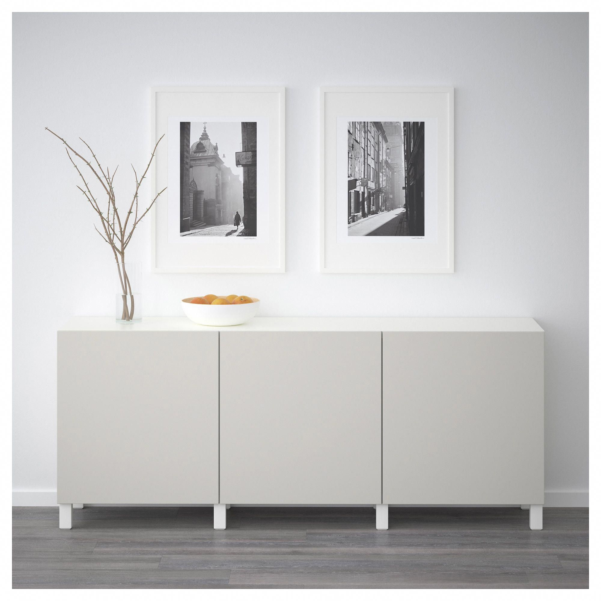 IKEA BESTÅ Storage combination with doors white