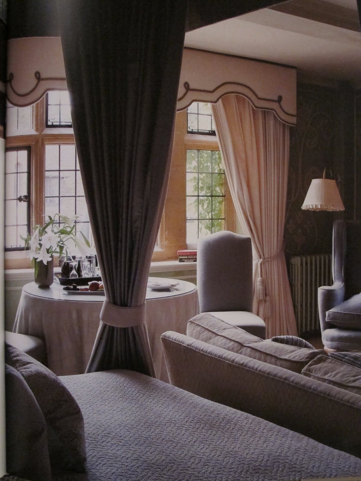 Hollyhock guest room at Le Manoir Aux' Quat Saisons, England. Great Britain.  So peaceful.