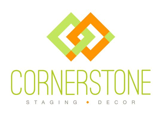 Cornerstone Staging U0026 Decor   Logo For Home Staging + Decorating Company
