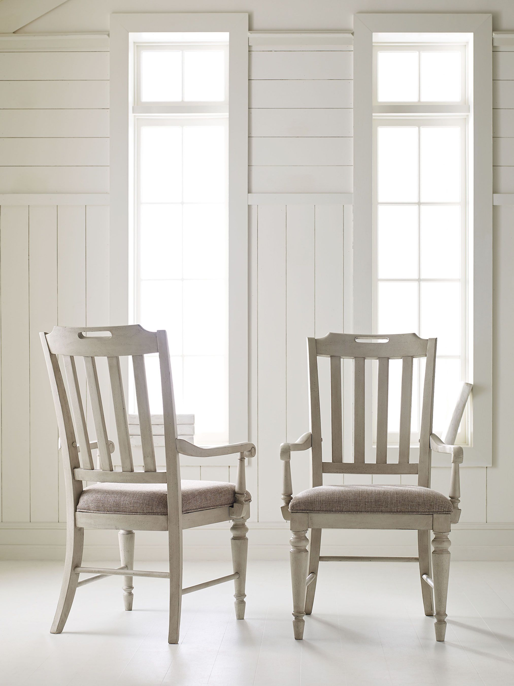 Brookhaven slat back arm chairs by legacy classic