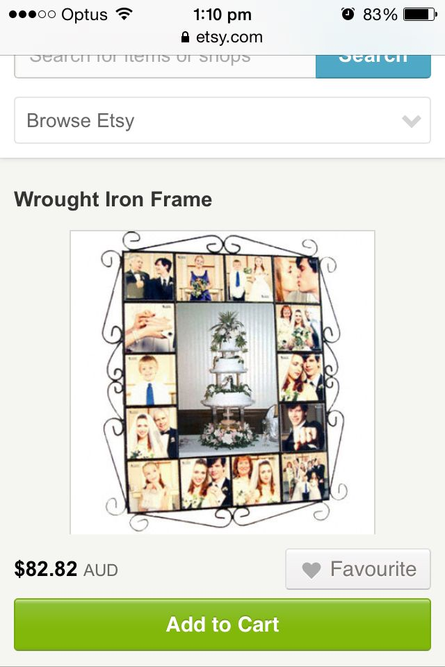 Wrought Iron Collage Frame Frames Pinterest Wrought Iron And Iron