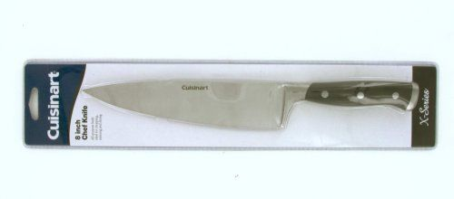 Cuisinart CA-X Open Stock 8-Inch Chef's  Knife by Cuisinart. $19.49. Triple riveted handles for strength and durability. Ergonomically designed handles. Recommended hand wash all cutlery. Superior high carbon stainless steel forged blades resist rust, corrosion and stains. A favorite in every kitchen - the Chef knife is designed for chopping, dicing and slicing. A favorite in every kitchen - the Chef knife is designed for chopping, dicing and slicing.. Save 30% Off!