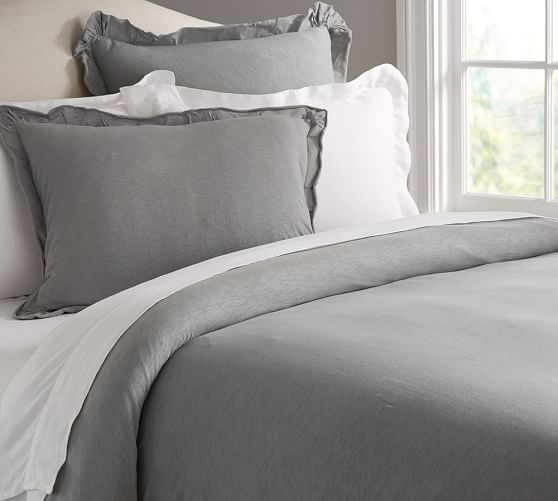 Jersey Knit Duvet Cover Amp Sham Bedroom Duvets Grey