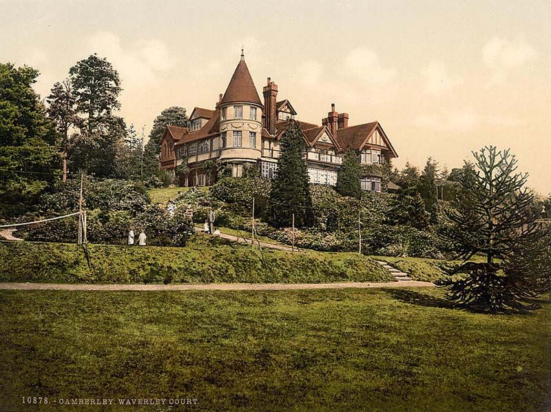 Surrey Camberley Waverley Court In The 1890s Mansions Beautiful Places England