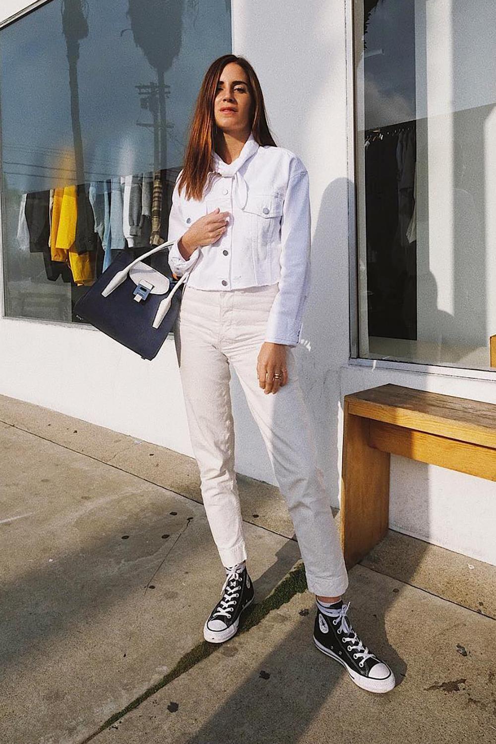 Looks con pantalones blancos | Como combinar pantalon ...