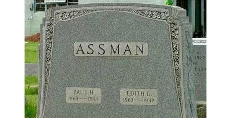 I would NOT have taken this man's  last name!!