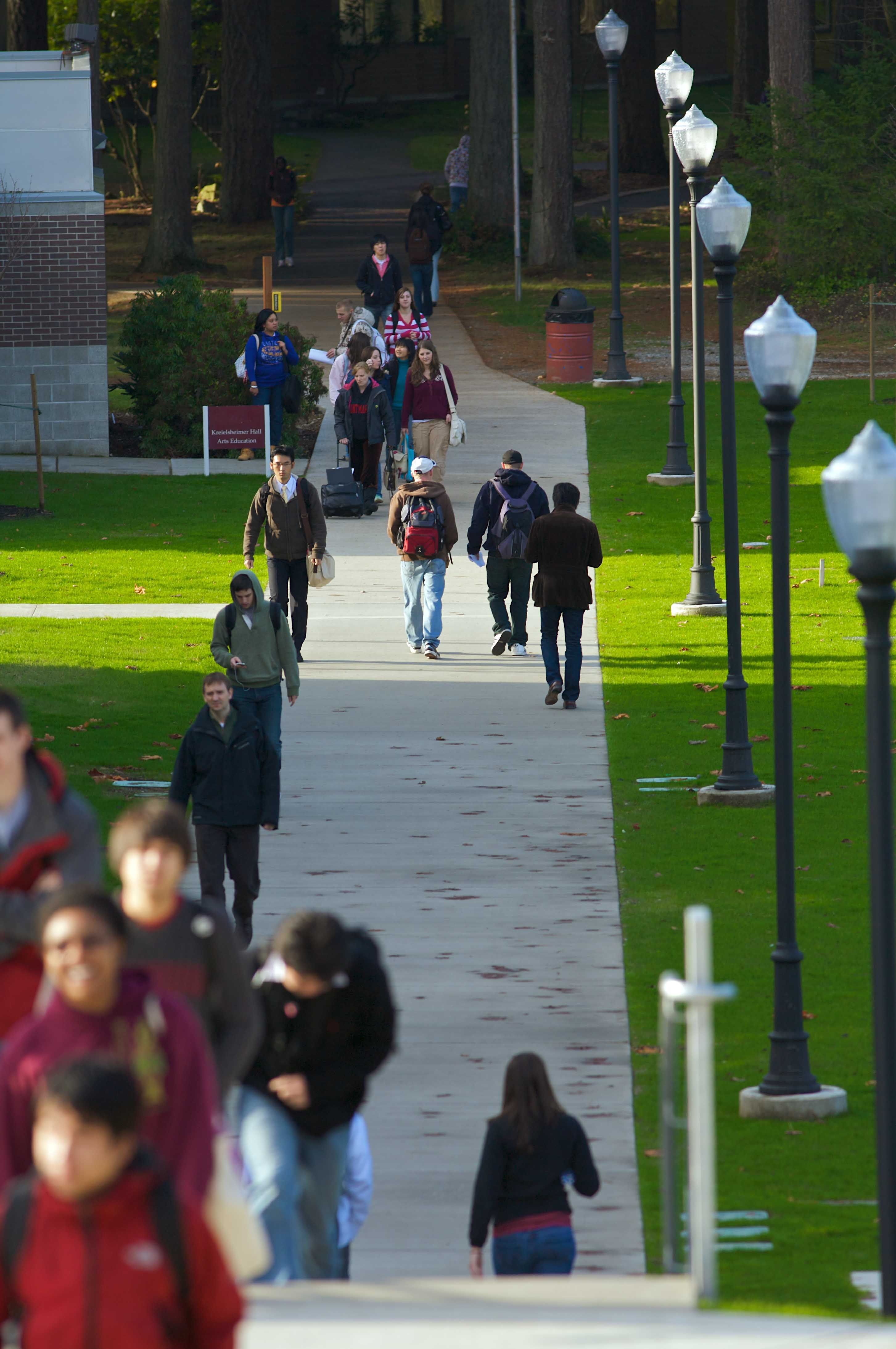 a walk between classes