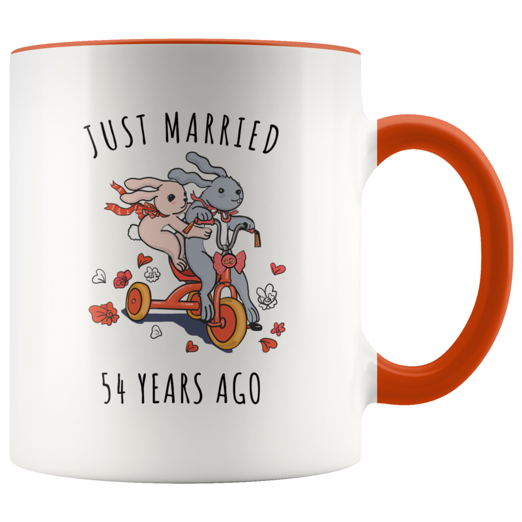 Just Married 54 Years Ago - 54th Wedding Anniversary Gift ...