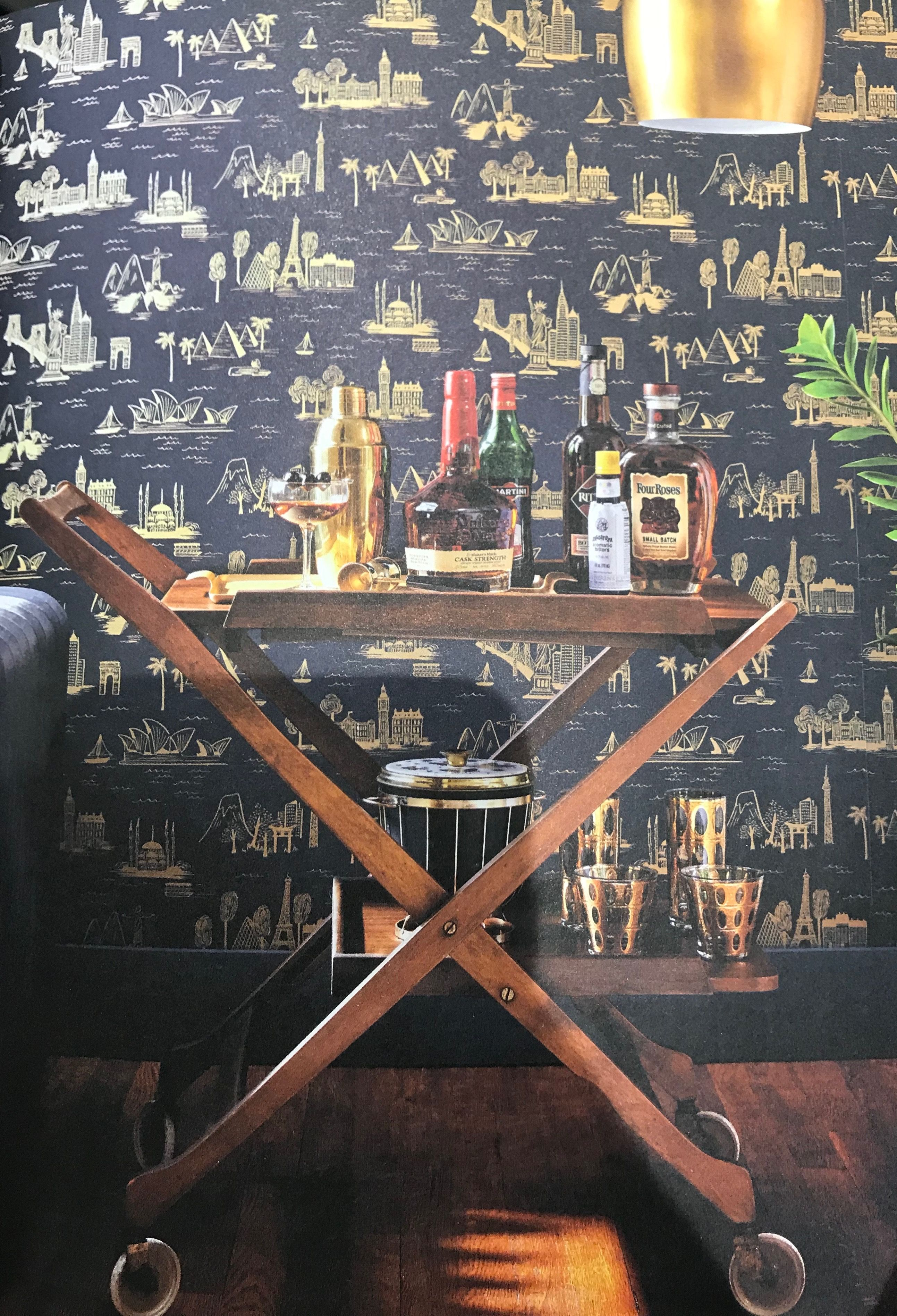 Would It Be Cool To Have A Funky Wallpaper On The Bar Area Wall Funky Wallpaper House Design High Fashion Home