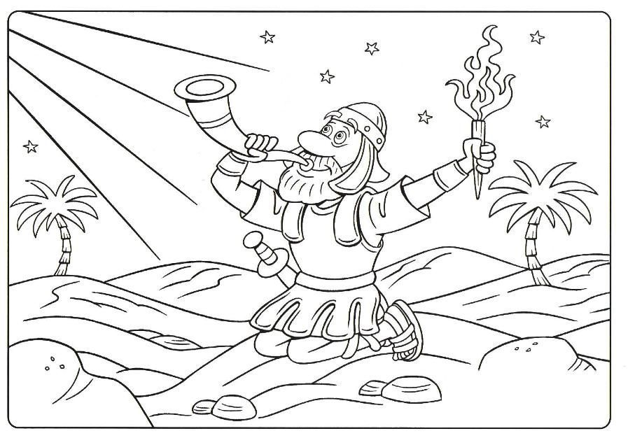 Gideon coloring page judges gideon for kids pinterest