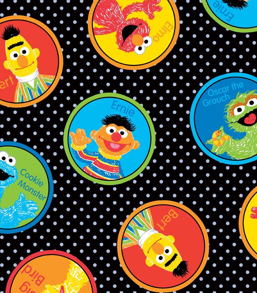 Sesame Street Scrubs Cotton Fabricsesame Street Scrubs Cotton