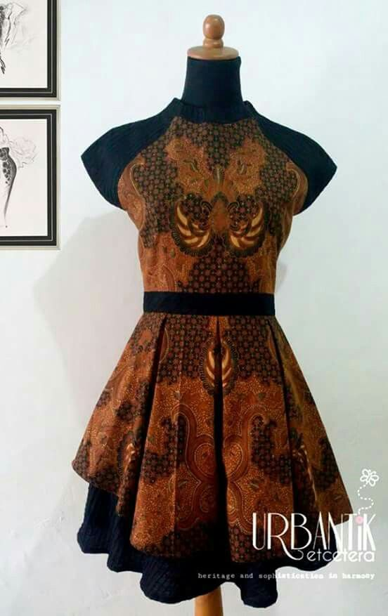 Batik Terusan Coklat Fashion Styling In 2019 Costura