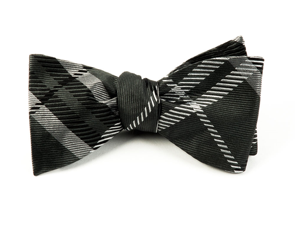 GENT PLAID BOW TIES - CHARCOAL | Ties, Bow Ties, and Pocket Squares | The Tie Bar