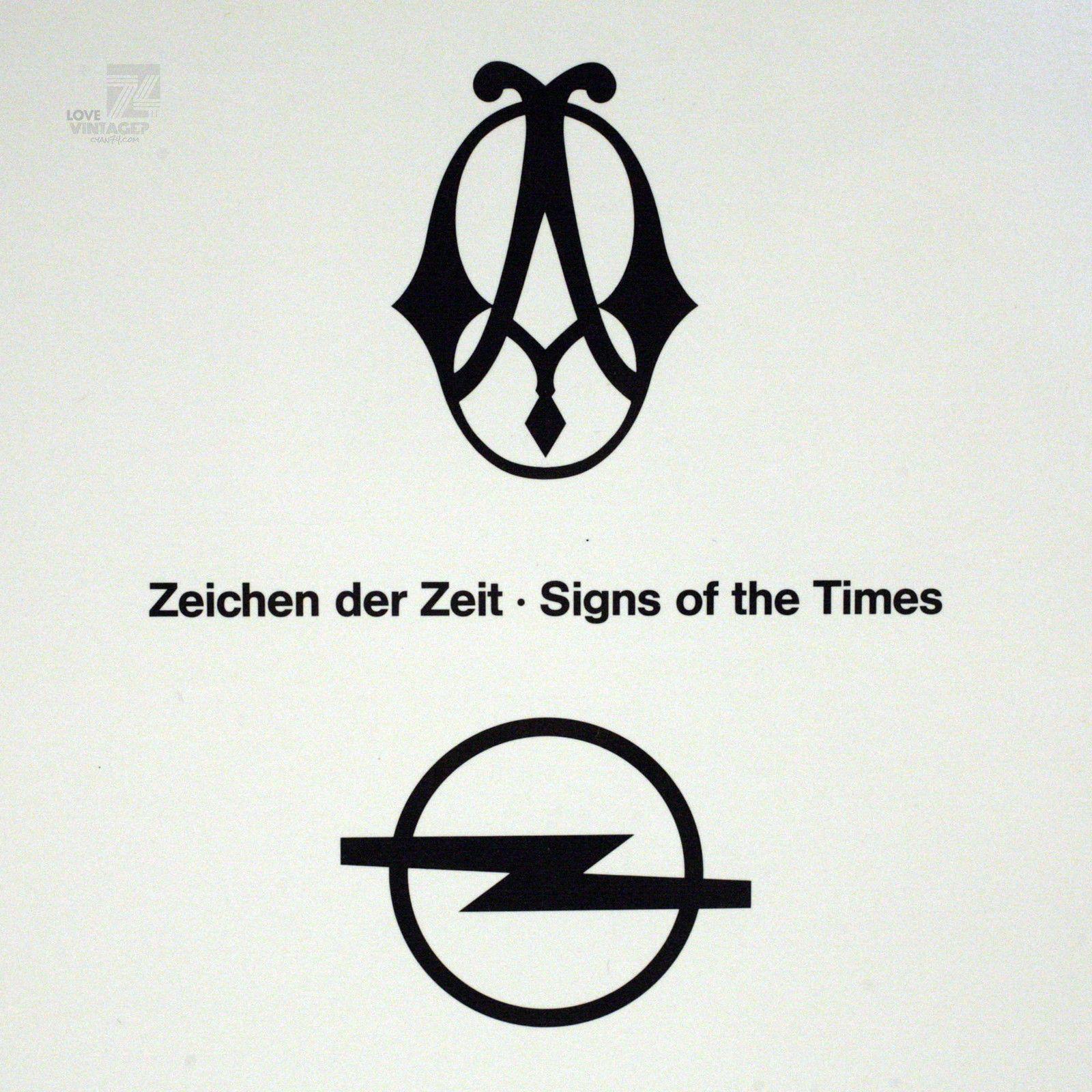 Details Zu Autowerbung Opel Zeichen Der Zeit Signs Of The Times