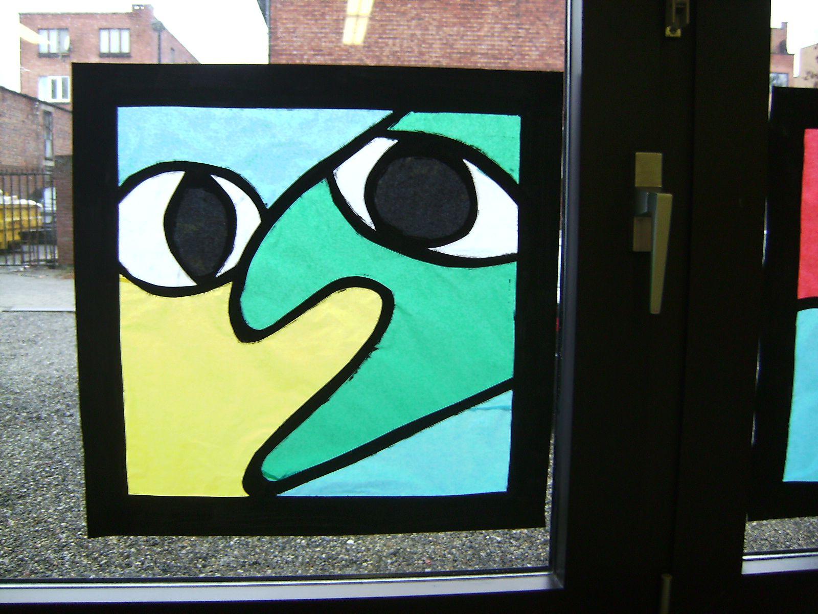 Classroom window decoration  Window decoration  material silk paper classroomart