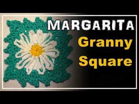 GRANNY SQUARE MARGARITA Crochet Pattern. Häkeln Muster Lana Wolle ...