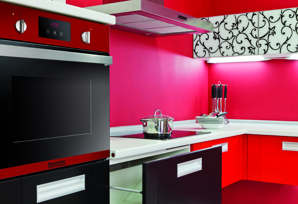 MY DREAM KITCHEN Funky Red Baumatic Kitchen. Coloured ...