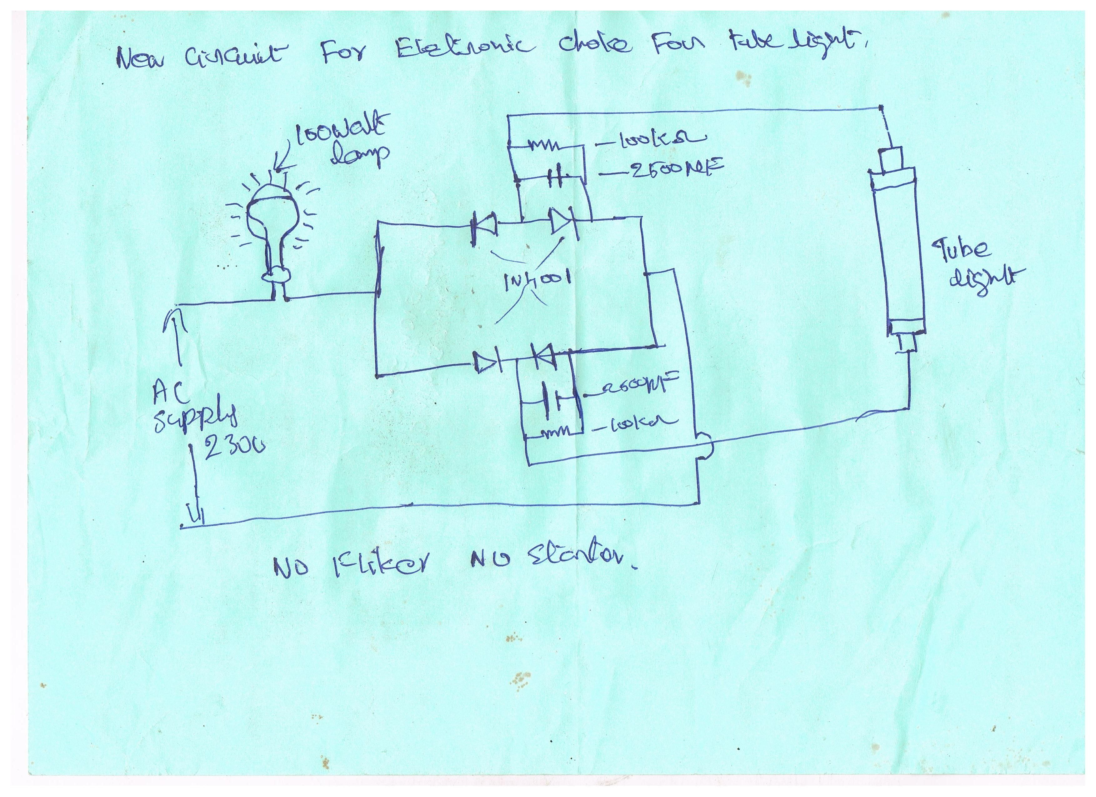 medium resolution of new circuit for electronic choke for tubelight