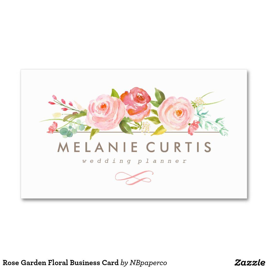 Rose Garden Floral Business Card | TARJETAS | Pinterest