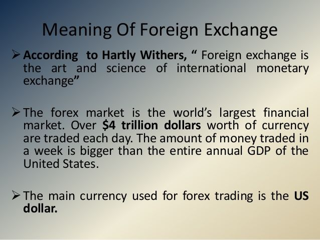 Foreign Exchange Definition Wikipedia