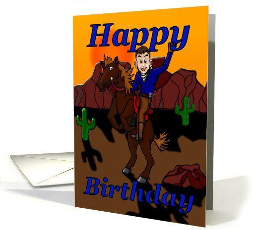 Birthday cowboy card dwts birthday cards pinterest cowboys birthday cowboy greeting card m4hsunfo