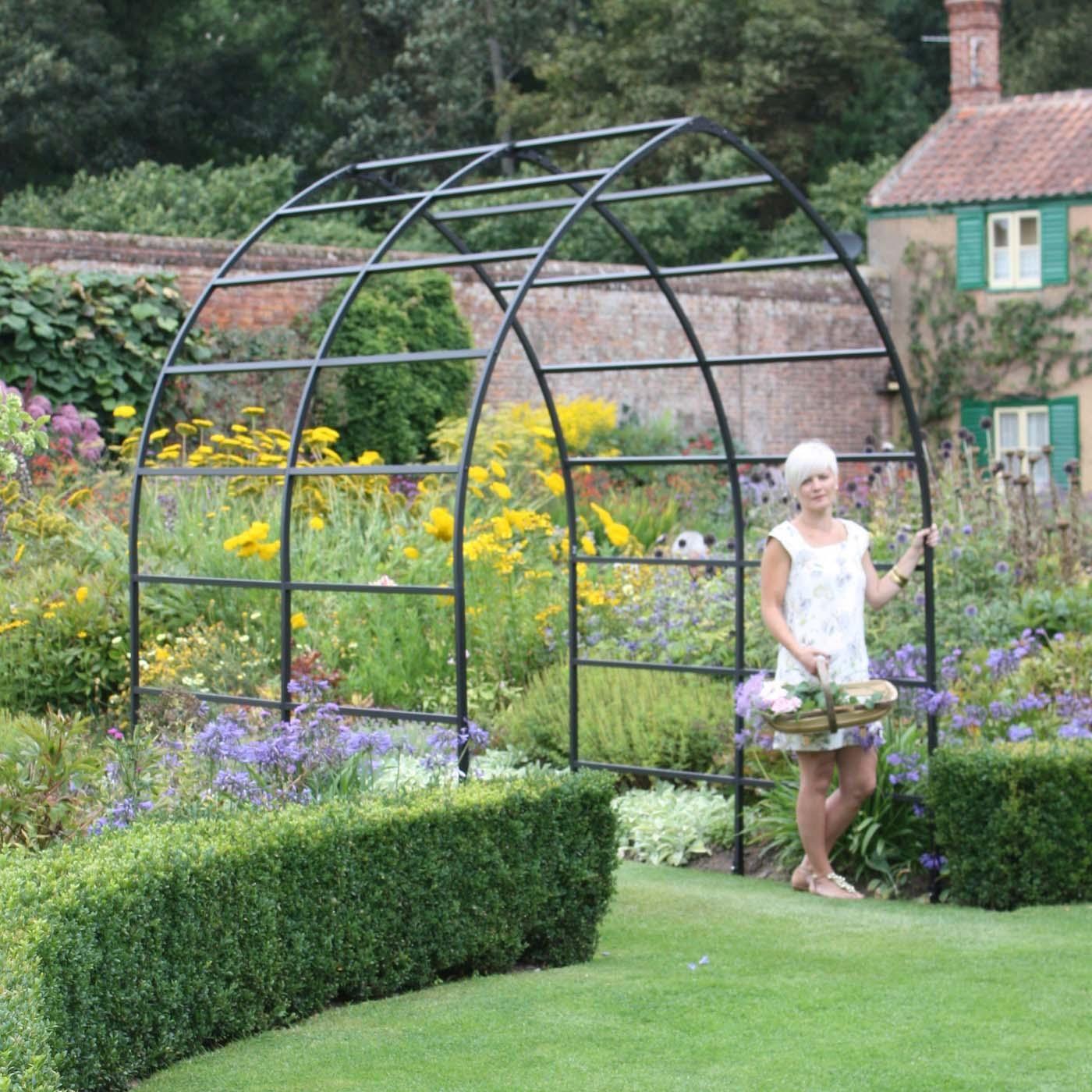 Gothic Arch Metal Garden Pergola Harrod Horticultural Uk - Metal Garden Arches And Pergolas - Garden Inspiration
