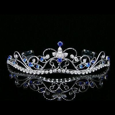 Details about Silver Blue Bridal Rhinestones Crystal Prom Wedding Crown Tiara 8377 #crowntiara Silver Blue Bridal Rhinestones Crystal Prom Wedding Crown Tiara 8377 #weddingcrown