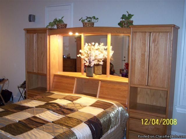 Headboard With Storage And Lights To Read At Night Awesome Oak