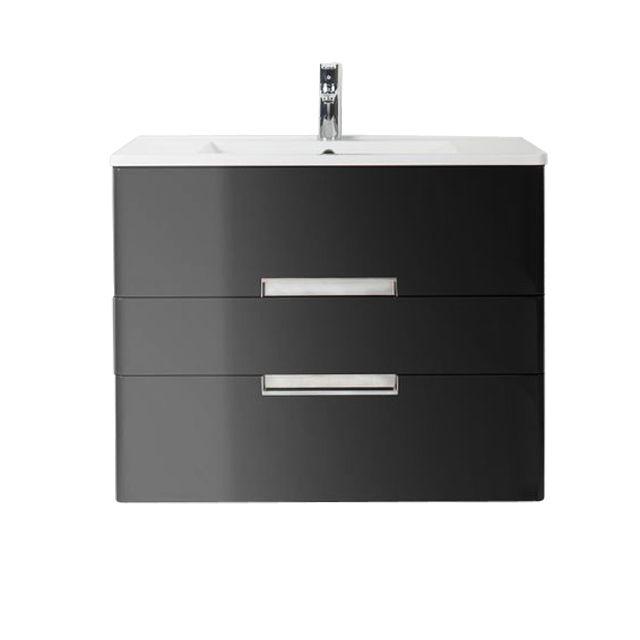 Meuble de salle de bains noir DECOTEC Belt 80 cm - leroy merlin meuble salle de bain neo